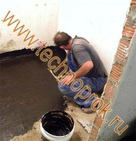 Гідроізоляція підлоги рідкої гумою своїми руками