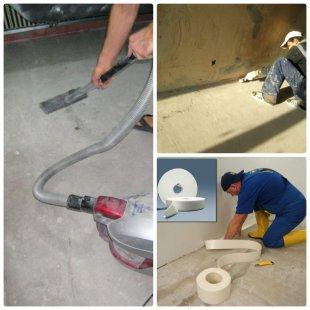 Підготовка поверхні для наливної підлоги
